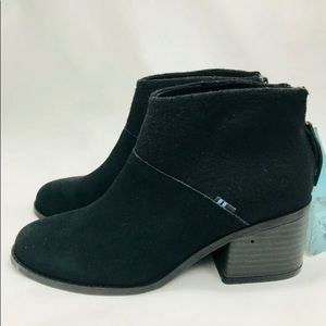 TOMS Lacy Booties - Black - Size 5.5 - NWT